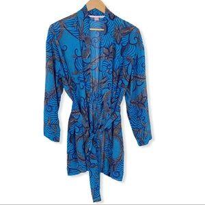 Victoria's Secret One Size Blue Semi Sheer Robe